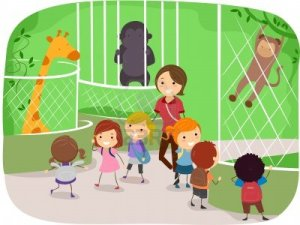 10132562-ilustracia-n-de-nia-os-observando-animales-en-un-zoola-gico